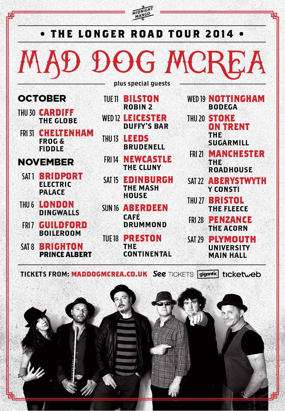 Mad Dog Mcrea Tour Poster