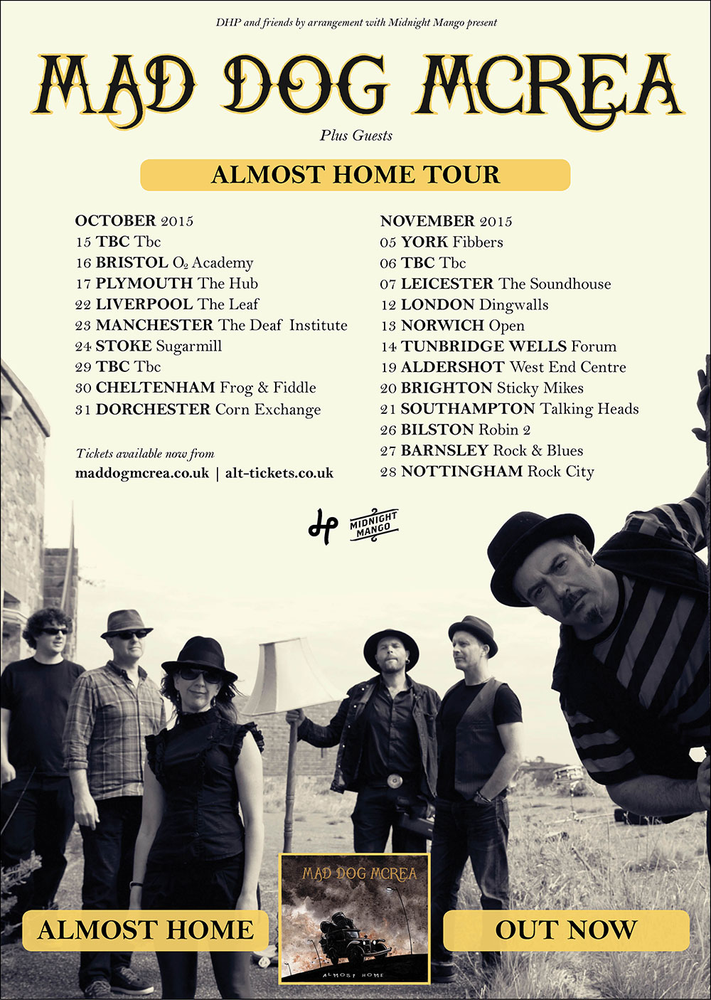 Almost Home Tour 2015